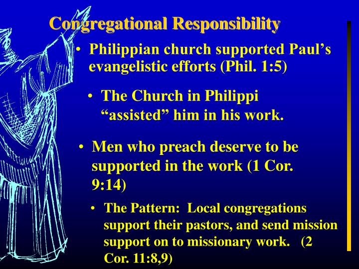 Congregational Responsibility