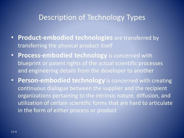 Description of Technology Types