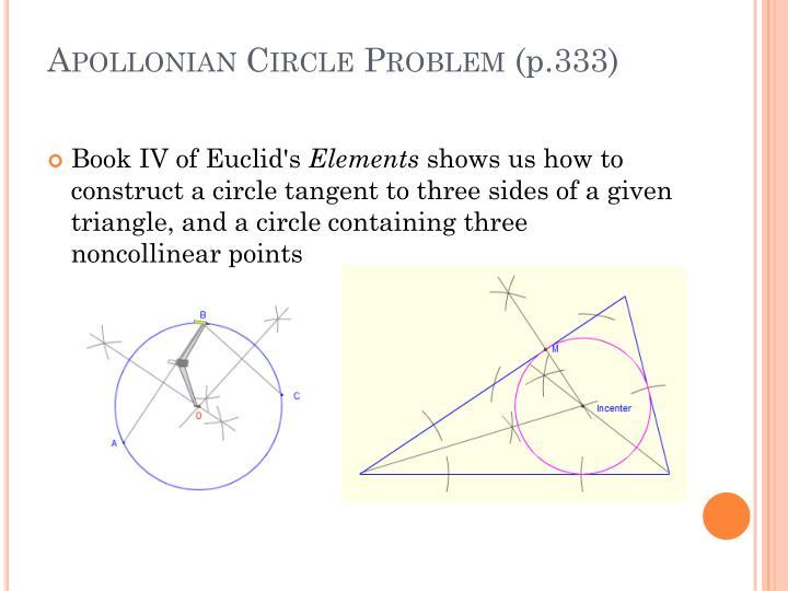Apollonian Circle