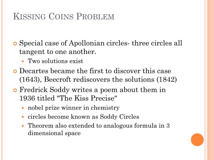 Kissing Coins Problem