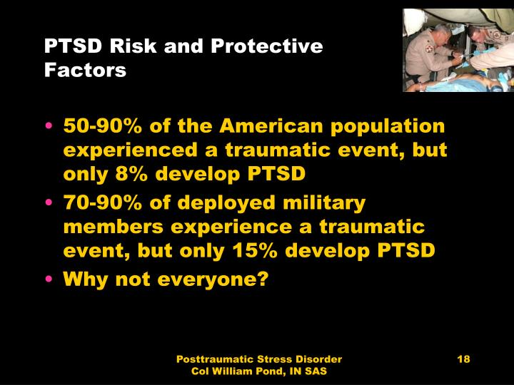 PTSD Risk and Protective Factors