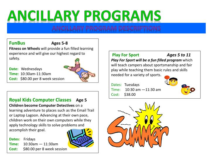 Ancillary Programs