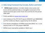 2 data using framework by corrado hulten and sichel