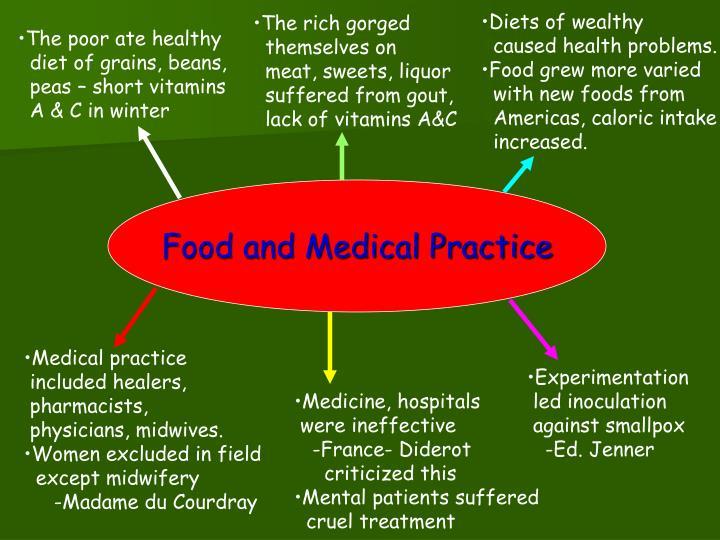 Diets of wealthy