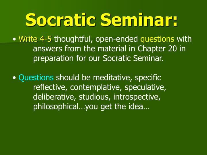 Socratic Seminar: