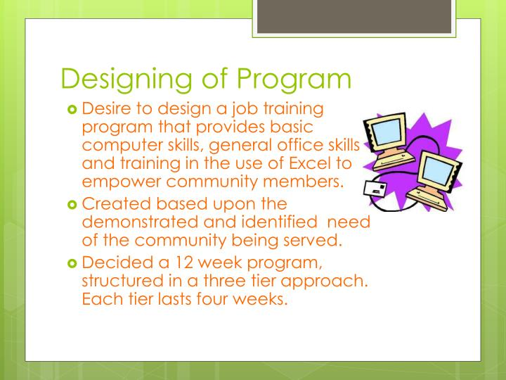 Designing of Program