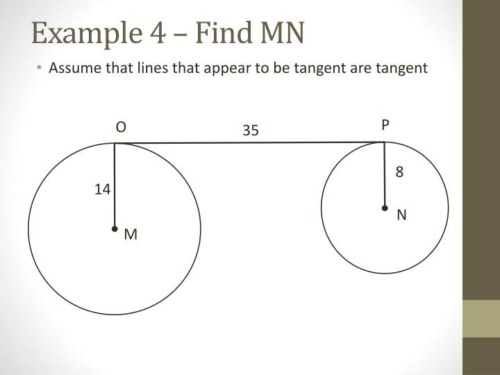 Example 4 – Find MN