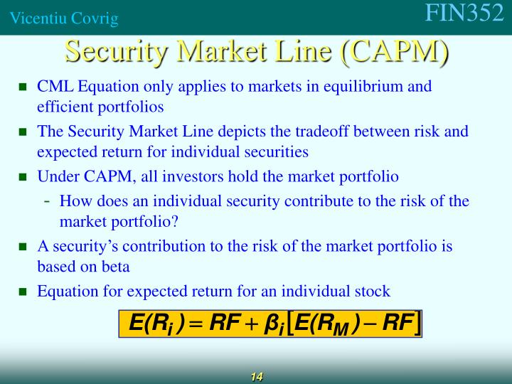 Security Market Line (CAPM)
