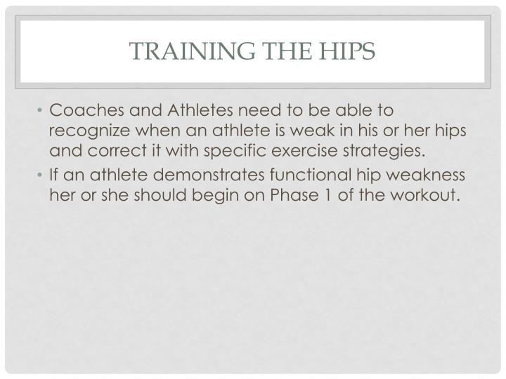 TRAINING THE HIPS