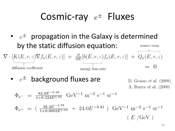 Cosmic-ray        Fluxes