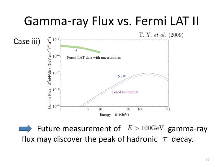 Gamma-ray Flux vs. Fermi LAT II