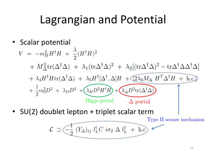 Lagrangian and Potential