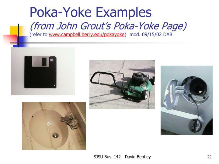 Poka-Yoke Examples