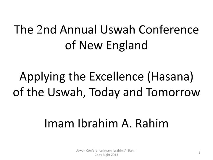 The 2nd Annual Uswah Conference of New England