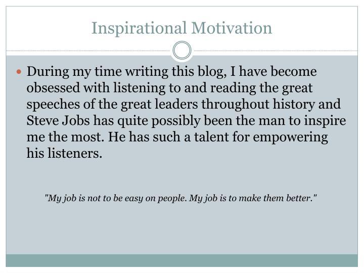 Inspirational Motivation