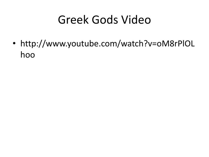 Greek Gods Video