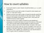 how to count syllables