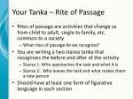 your tanka rite of passage