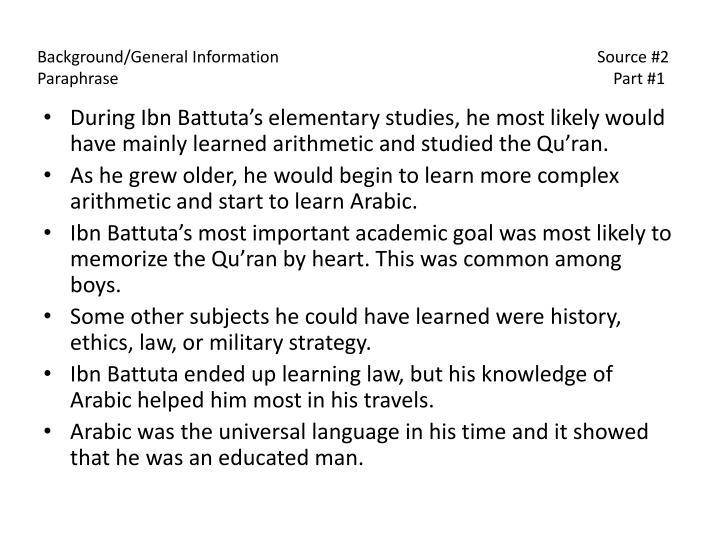 Background/General Information