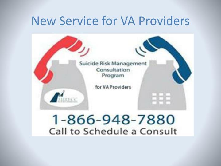 New Service for VA Providers