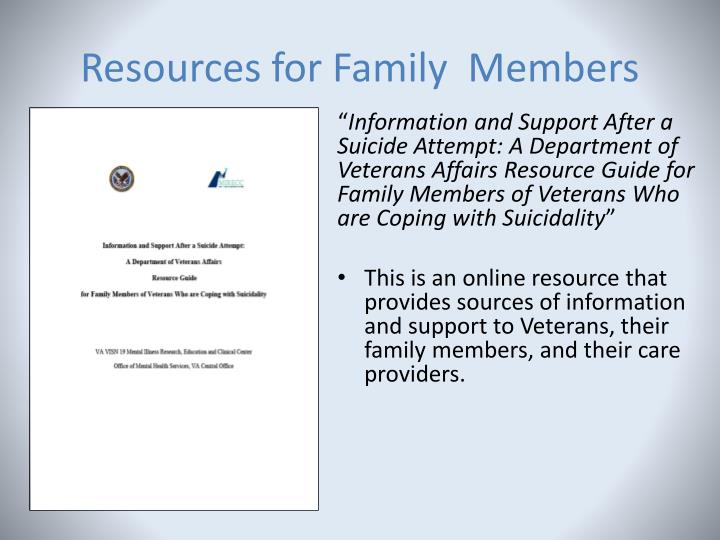 Resources for Family  Members