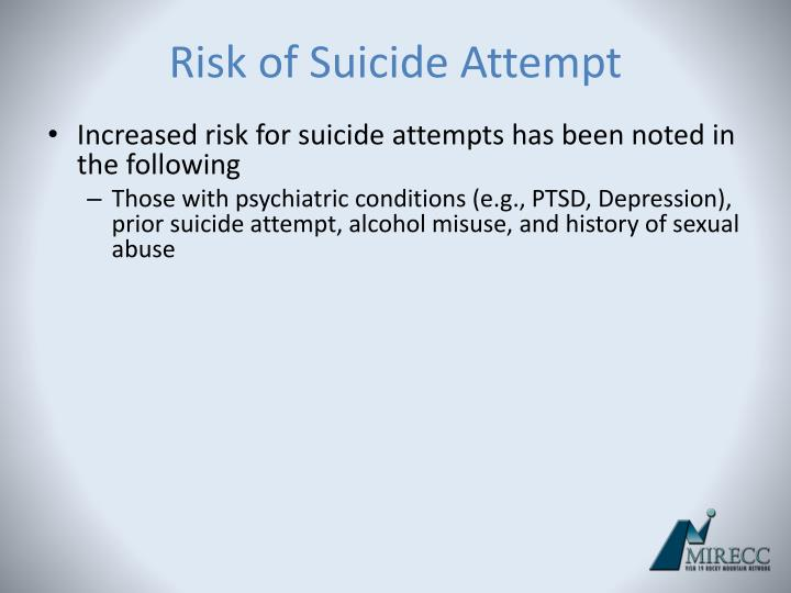 Risk of Suicide Attempt