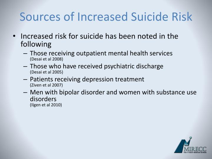 Sources of Increased Suicide Risk