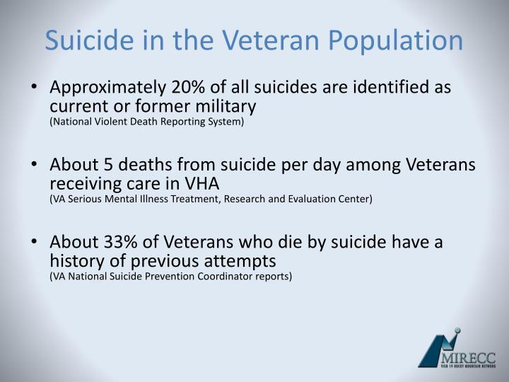 Suicide in the Veteran Population