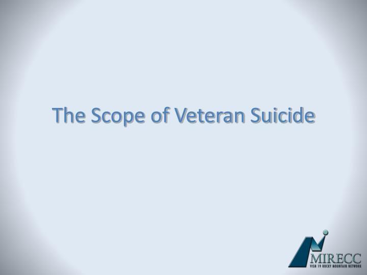 The Scope of Veteran Suicide