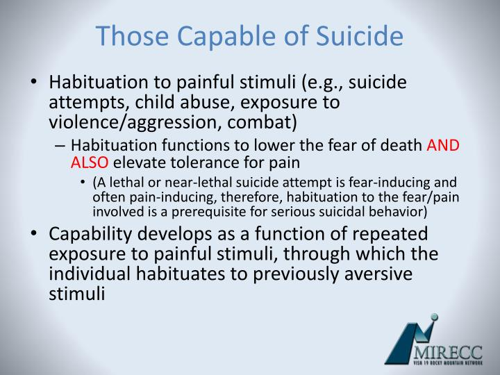 Those Capable of Suicide