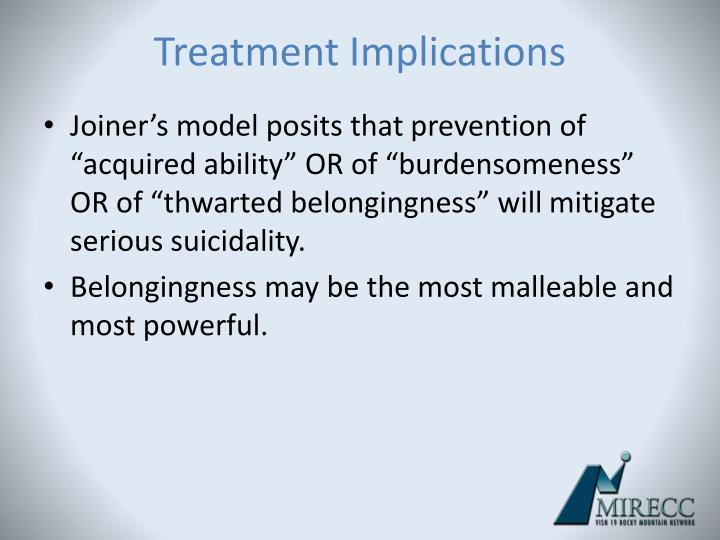 Treatment Implications