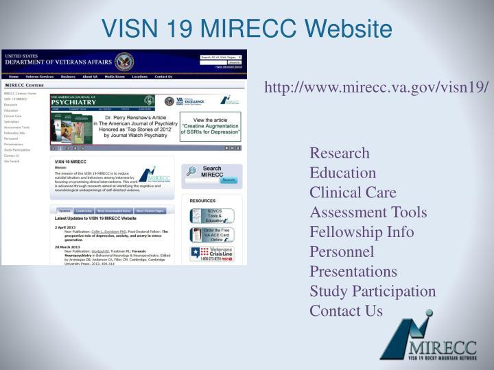 VISN 19 MIRECC Website