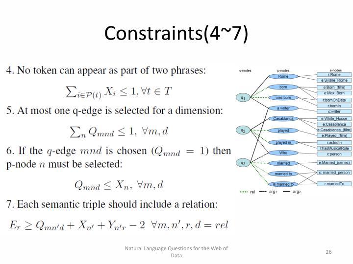 Constraints(4~7)