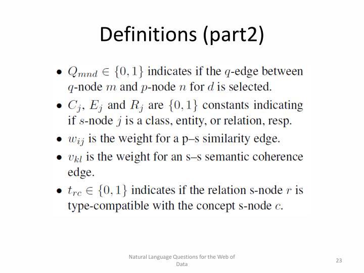 Definitions (part2)