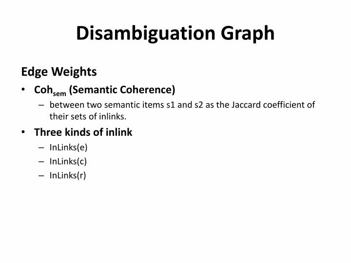 Disambiguation Graph