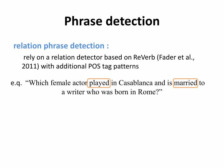 Phrase detection