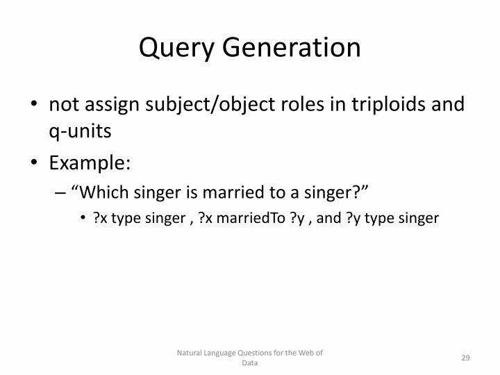 Query Generation