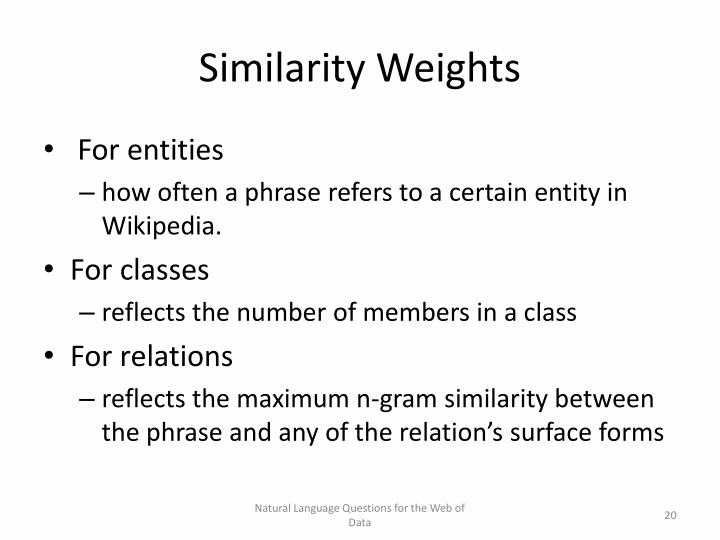Similarity Weights