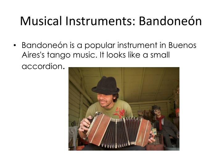 Musical Instruments: