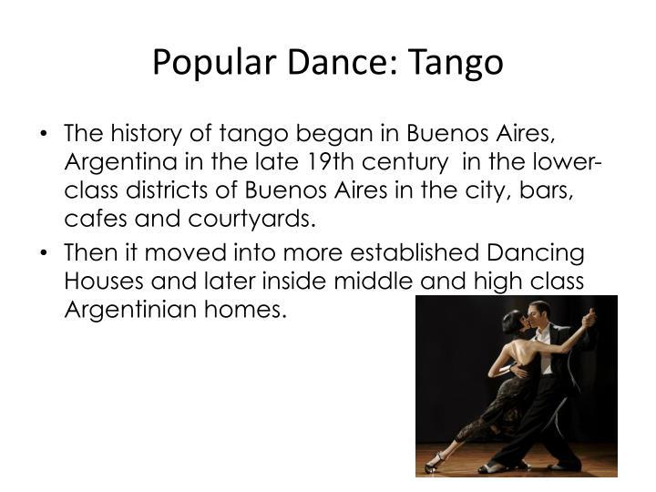 Popular Dance: Tango