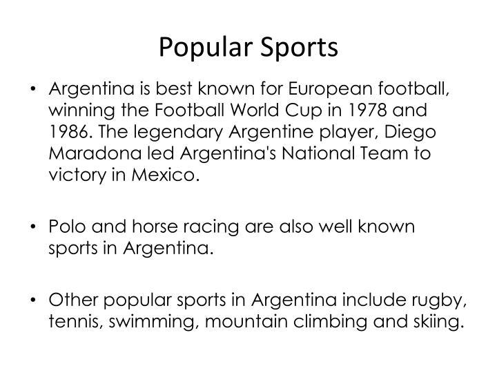 Popular Sports