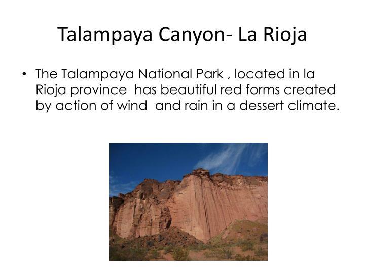 Talampaya Canyon- La Rioja