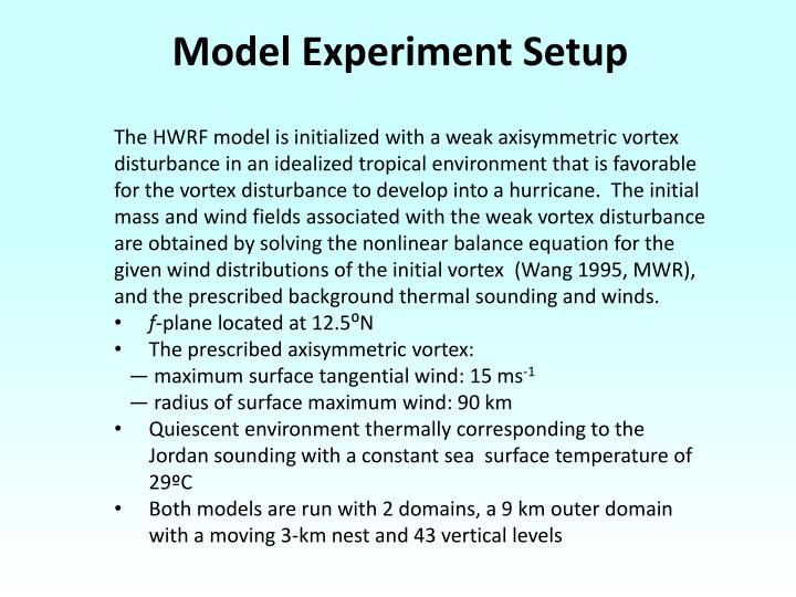 Model Experiment Setup