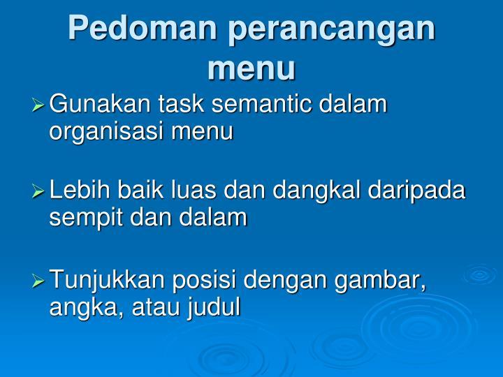 Pedoman perancangan menu