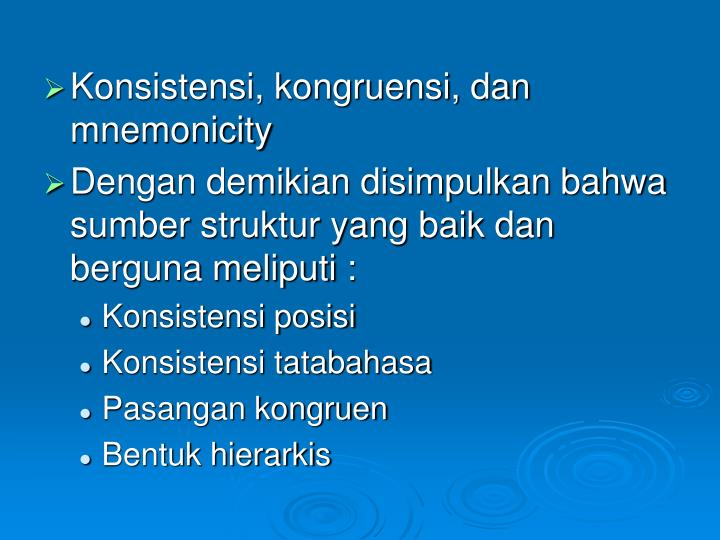 Konsistensi, kongruensi, dan mnemonicity