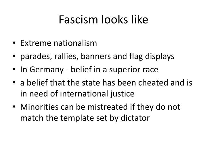 Fascism looks like