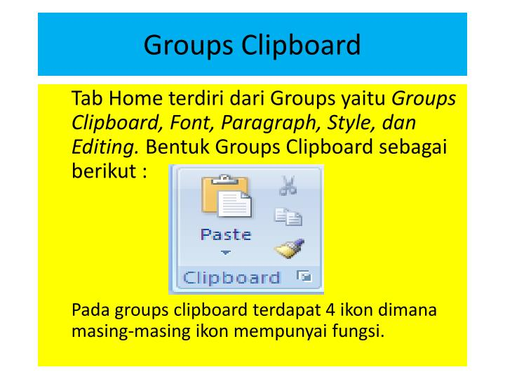 Groups Clipboard
