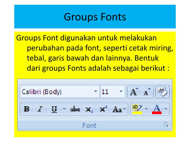 Groups Fonts