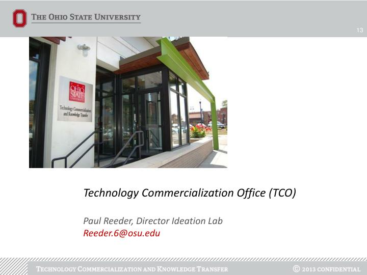 Technology Commercialization Office (TCO)