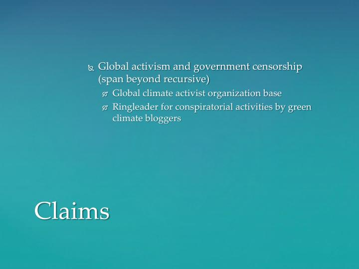 Global activism and government